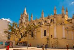 Καθολικός καθεδρικός ναός κοντά στο μουσείο της επανάστασης, προεδρικό παλάτι Κούβα Αβάνα Στοκ φωτογραφία με δικαίωμα ελεύθερης χρήσης