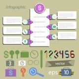 Καθολικός editable Infographics - καθορισμένος για το διάνυσμα πληροφοριών Στοκ Εικόνες