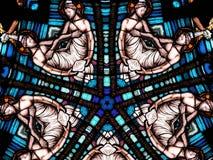καθολικό κυκλικό παράθυρο Στοκ φωτογραφία με δικαίωμα ελεύθερης χρήσης