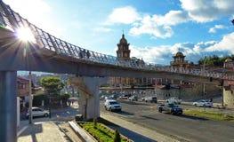 Καθολικό πανεπιστήμιο Cuenca, Ισημερινός στοκ εικόνα