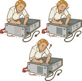 Καθορίζοντας PC Στοκ εικόνες με δικαίωμα ελεύθερης χρήσης