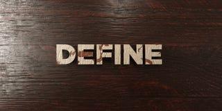 Καθορίστε - βρώμικος ξύλινος τίτλος στο σφένδαμνο - το τρισδιάστατο δικαίωμα ελεύθερη εικόνα αποθεμάτων ελεύθερη απεικόνιση δικαιώματος