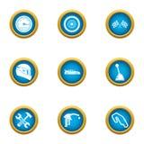 Καθορίστε τα εικονίδια εθνικών οδών καθορισμένα, επίπεδο ύφος απεικόνιση αποθεμάτων