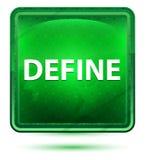 Καθορίστε το ανοικτό πράσινο τετραγωνικό κουμπί νέου απεικόνιση αποθεμάτων