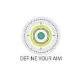 Καθορίστε το εικονίδιο ευκαιρίας στόχων στόχου σας απεικόνιση αποθεμάτων