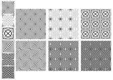 Καθορισμένα άνευ ραφής γραπτά σχέδια γραμμών Στοκ Εικόνα