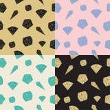 Καθορισμένα άνευ ραφής διανυσματικά γεωμετρικά κρύσταλλα σχεδίων Στοκ Εικόνες