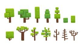 καθορισμένα δέντρα Στοκ Φωτογραφίες