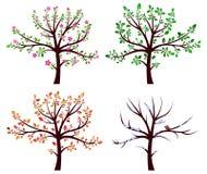 καθορισμένα δέντρα Στοκ Εικόνες