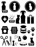 Καθορισμένα αγαθά για το κατοικίδιο ζώο διανυσματική απεικόνιση
