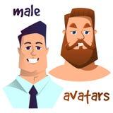 Καθορισμένα αρσενικά πρόσωπα Στοκ Εικόνα