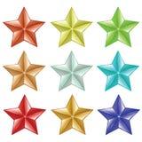 καθορισμένα αστέρια Στοκ φωτογραφίες με δικαίωμα ελεύθερης χρήσης