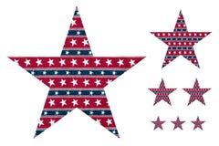 καθορισμένα αστέρια Στοκ εικόνα με δικαίωμα ελεύθερης χρήσης