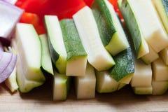 καθορισμένα λαχανικά Εκλεκτική εστίαση Στοκ Φωτογραφίες
