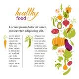 καθορισμένα λαχανικά Υγιής πίνακας τροφίμων Στοκ φωτογραφία με δικαίωμα ελεύθερης χρήσης