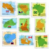 καθορισμένα γραμματόσημα Στοκ Φωτογραφίες
