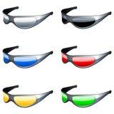 καθορισμένα γυαλιά ηλίο&u ελεύθερη απεικόνιση δικαιώματος