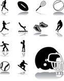 Καθορισμένα εικονίδια - 150. Αθλητισμός Στοκ Εικόνες