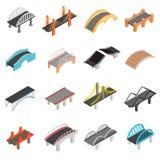 Καθορισμένα εικονίδια γεφυρών Στοκ Εικόνες