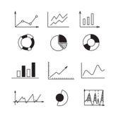 Καθορισμένα εικονίδια: διάγραμμα, γραφική παράσταση, διάγραμμα Αποδοχές analytics επιχειρήσεων και χρηματοδότησης έννοιας Στοκ φωτογραφίες με δικαίωμα ελεύθερης χρήσης