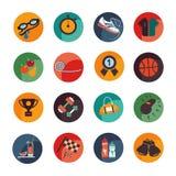 Καθορισμένα εικονίδια του αθλητισμού και της υγείας Στοκ εικόνες με δικαίωμα ελεύθερης χρήσης