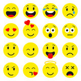 Καθορισμένα εικονίδια Emoji Απεικόνιση αποθεμάτων