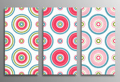 Καθορισμένα εκλεκτής ποιότητας καθολικά διαφορετικά άνευ ραφής ανατολικά σχέδια (tilin Στοκ Εικόνες
