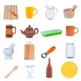 καθορισμένα εργαλεία κουζινών Στοκ Φωτογραφία