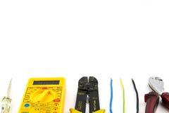 Καθορισμένα εργαλεία ηλεκτρολόγων στοκ εικόνα