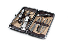 Καθορισμένα εργαλεία μανικιούρ Στοκ Φωτογραφία