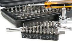 Καθορισμένα εργαλεία σε ένα λευκό Στοκ φωτογραφία με δικαίωμα ελεύθερης χρήσης