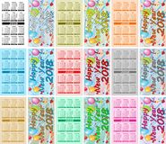 Καθορισμένα ζωηρόχρωμα ημερολόγια τσεπών για το 2018 διανυσματική απεικόνιση
