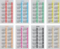 Καθορισμένα ζωηρόχρωμα ημερολόγια τσεπών για το 2016 διανυσματική απεικόνιση
