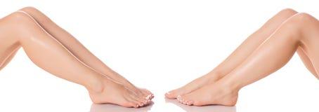 Καθορισμένα θηλυκά πόδια ποδιών από τη διαφορετική υγεία ομορφιάς ιατρικής κατευθύνσεων Στοκ Εικόνα