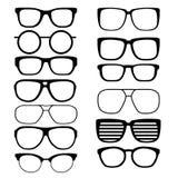 Καθορισμένα διανυσματικά γυαλιά Στοκ φωτογραφία με δικαίωμα ελεύθερης χρήσης