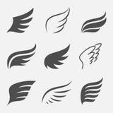 καθορισμένα διανυσματικά φτερά απεικόνιση αποθεμάτων