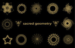 Καθορισμένα ιερά στοιχεία γεωμετρίας Στοκ φωτογραφία με δικαίωμα ελεύθερης χρήσης