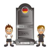 Καθορισμένα κινούμενα σχέδια της Γερμανίας ομάδων ποδοσφαίρου Στοκ εικόνες με δικαίωμα ελεύθερης χρήσης
