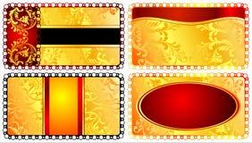 Καθορισμένα κομψά πρότυπα για τις ευχετήριες κάρτες. 02 (διάνυσμα) Στοκ Φωτογραφία