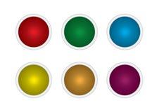 Καθορισμένα κουμπιά πολύχρωμα διανυσματική απεικόνιση