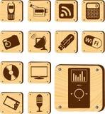 Καθορισμένα κουμπιά - 177_W. Υψηλή τεχνολογία και ψηφιακός Στοκ Φωτογραφία