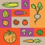 καθορισμένα λαχανικά Αφίσα λαχανικών eps συμπεριλαμβανόμενα αρχείο διανυσματικά λαχανικά επίσης corel σύρετε το διάνυσμα απεικόνι Στοκ Εικόνα