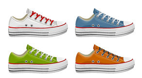 καθορισμένα πάνινα παπούτσια διανυσματική απεικόνιση