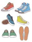 καθορισμένα πάνινα παπούτσ& διανυσματική απεικόνιση