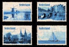 Σύνολο με τα γραμματόσημα των Κάτω Χωρών Στοκ φωτογραφίες με δικαίωμα ελεύθερης χρήσης