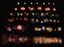 Καθορισμένα πυροτεχνήματα Στοκ εικόνα με δικαίωμα ελεύθερης χρήσης