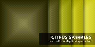 Καθορισμένα σπινθηρίσματα εσπεριδοειδών σχεδίων διαμαντιών Διανυσματικά άνευ ραφής γεωμετρικά υπόβαθρα Στοκ φωτογραφία με δικαίωμα ελεύθερης χρήσης