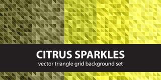Καθορισμένα σπινθηρίσματα εσπεριδοειδών σχεδίων τριγώνων Στοκ Εικόνες