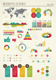 Καθορισμένα στοιχεία του infographics Στοκ φωτογραφία με δικαίωμα ελεύθερης χρήσης