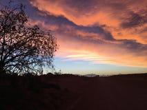 Καθορισμένα σύννεφα ήλιων Coober pedy Στοκ εικόνες με δικαίωμα ελεύθερης χρήσης